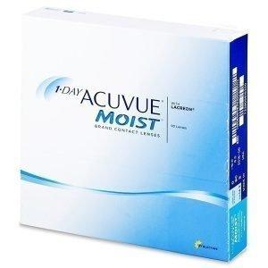 1 Day Acuvue Moist 90kpl Kertakäyttölinssit