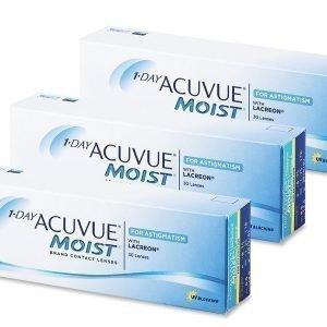 1 Day Acuvue Moist for Astigmatism 90kpl Tooriset piilolinssit