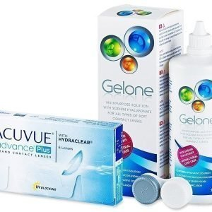 Acuvue Advance PLUS 6 kpl + Gelone Piilolinssineste 360 ml