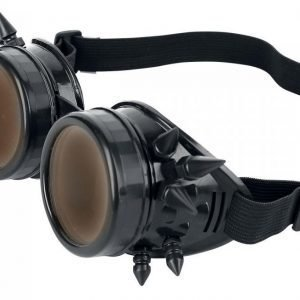 Alcatraz Spiked Cyber Goggle Black Aurinkolasit