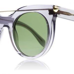Alexander McQueen 0001S 002 Harmaa Aurinkolasit