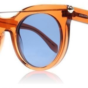 Alexander McQueen 0001S 5 Oranssi Aurinkolasit