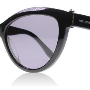 Alexander McQueen 0003S 001 Musta Aurinkolasit