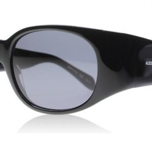 Alexander McQueen 0016S 001 Musta Aurinkolasit