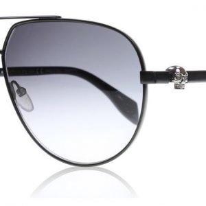 Alexander McQueen 0018S 001 Musta Aurinkolasit