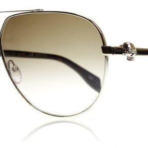 Alexander McQueen 0018S 002 Kulta-ruskea Aurinkolasit