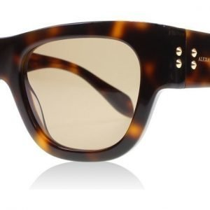 Alexander McQueen 0033S 2 Havanna Aurinkolasit