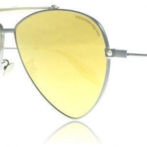 Alexander McQueen 0058S 003 Rutenium-kulta Aurinkolasit