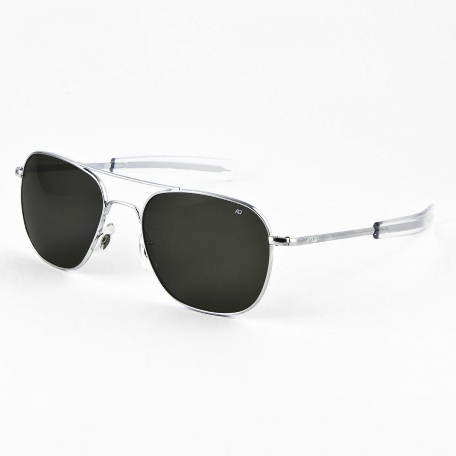 American Optical AO5257 Original Pilot-silver polarized aurinkolasit