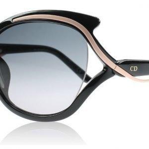 Christian Dior Audacieuse 2 9OE Musta ja Vaaleanpunainen Aurinkolasit