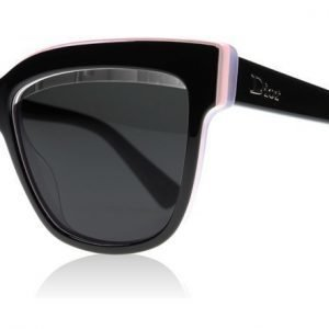 Christian Dior DiorGraphic Graphic 3895S Musta-vaaleanpunainen-liila Aurinkolasit