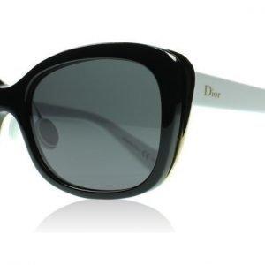 Christian Dior Diorific2N 3B8 Musta- kulta valkoinen Aurinkolasit