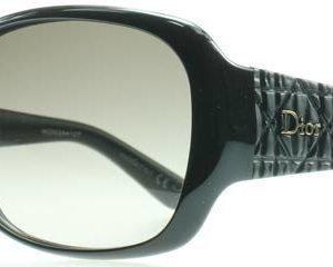 Christian Dior Frisson 2 BIL Kiiltävä musta Aurinkolasit
