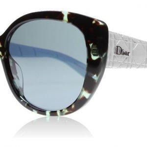 Christian Dior Lady1 R GRZ Havana-valkoinen-sininen Aurinkolasit