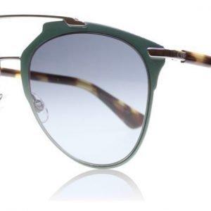 Christian Dior Reflected PVZ Matta vihreä-vaalea havanna Aurinkolasit