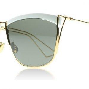 Christian Dior So Electric 1 266 Valkoinen Keltainen kulta Aurinkolasit
