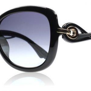 Christian Dior Twisting D28 Kiiltävä Musta Aurinkolasit