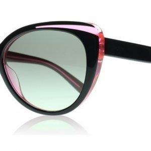 DKNY 4125 366611 Musta-pinkki Aurinkolasit