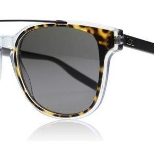 Dior Homme Black Tie 211S 211S LCQ Havanna-kristalli-matta rutenium Aurinkolasit