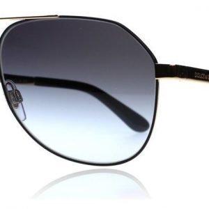 Dolce and Gabbana 2144 12968G Kulta-musta Aurinkolasit