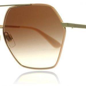 Dolce and Gabbana 2157 129313 Ruusukulta-hopea Aurinkolasit