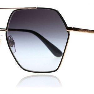 Dolce and Gabbana 2157 12968G Musta-ruusukulta Aurinkolasit