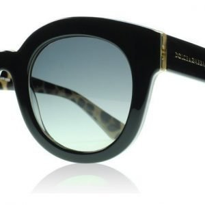 Dolce and Gabbana 4235 2857T3 Musta ja Leopardi Aurinkolasit