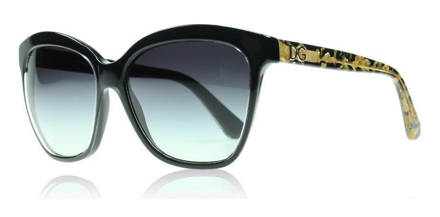 Dolce and Gabbana 4251 29178G Musta-kulta Aurinkolasit