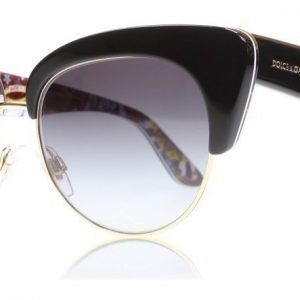 Dolce and Gabbana 4277 30338G Musta-kulta Aurinkolasit