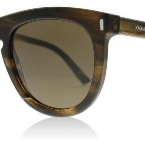 Dolce and Gabbana 4281 292573 Raidallinen ruskea Aurinkolasit