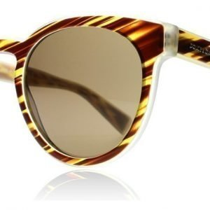 Dolce and Gabbana 4285 3052-73 Ruskea raidallinen Aurinkolasit