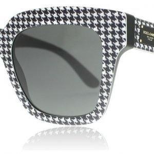 Dolce and Gabbana 4286 307987 Mustavalkoinen kukonaskel-kuvio Aurinkolasit