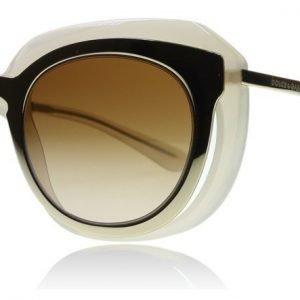 Dolce and Gabbana 6104 6014 304313 Beige-kulta Aurinkolasit