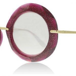 Dolce and Gabbana 6105 31057V Fuschia Glitter Gold Aurinkolasit