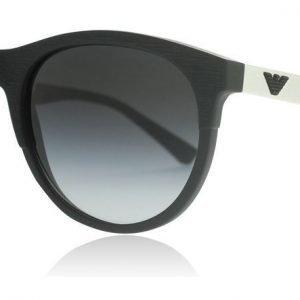 Emporio Armani 4084 50428G Matta musta-valkoinen Aurinkolasit