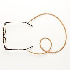 Eyewear string leather - Beige