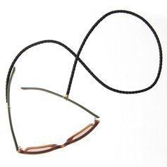 Eyewear string leather - Black