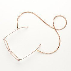 Eyewear string leather - Copper