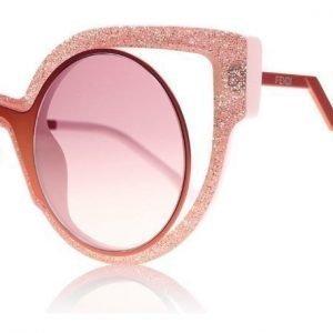 Fendi 0137s 0137S NUG 4C Vaaleanpunainen-glitter Aurinkolasit