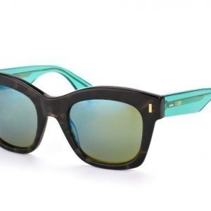 Fendi FF 0025/S-7OF 3U Grey Transparent Green aurinkolasit