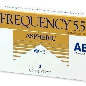Frequency 55 Aspheric 6kpl Kuukausilinssit