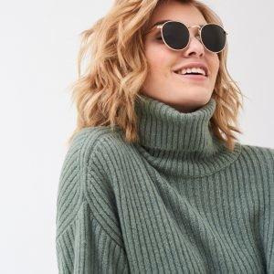 Gina Tricot Lucy Aurinkolasit Kulta / Vihreä