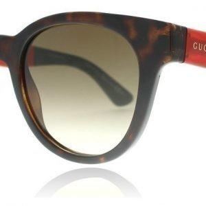 Gucci 1159S VTD Havanna-punainen-vihreä Aurinkolasit