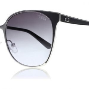Guess GU7458 11B Musta-hopea Aurinkolasit