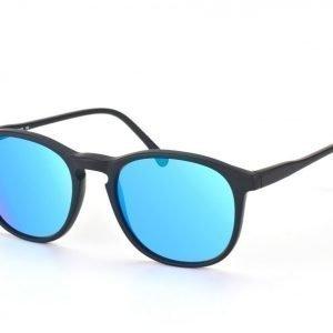 Illesteva IL Hudson-matte black w blue mirror aurinkolasit
