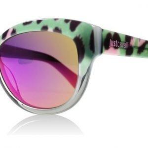 Just Cavalli 679S 679 98Z Vihreä Leopardi Aurinkolasit