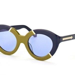 Karen Walker Eyewear KW Flowerpatch Navy Khaki Gold Aurinkolasit