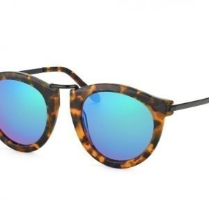 Karen Walker KW Harvest-superstars edition-Crazy Tortoise w Green mirror aurinkolasit