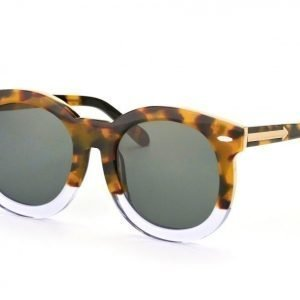 Karen Walker KW Super Duper Thistle Crazy Tortoise Clear aurinkolasit