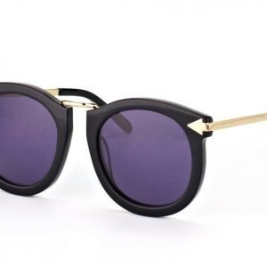 Karen Walker Super Lunar Black with Gold aurinkolasit
